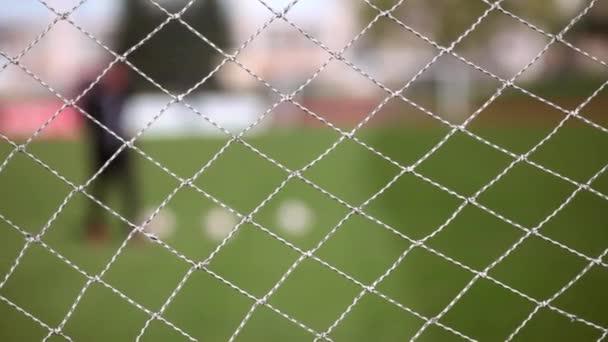 Fotbalová síť, cvičení fotbalista