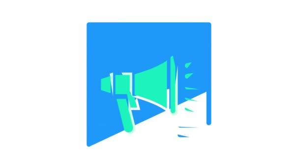 reproduktor na animaci ikon barev webových stránek