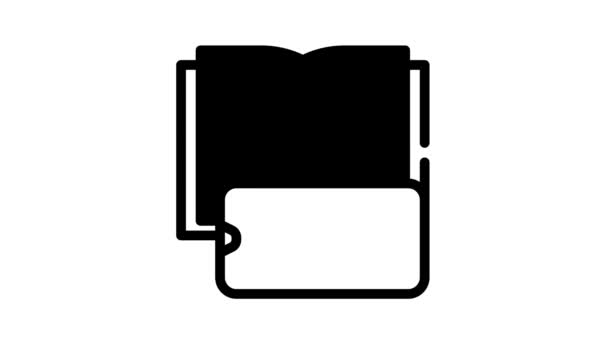 photographing book pages on phone camera black icon animation