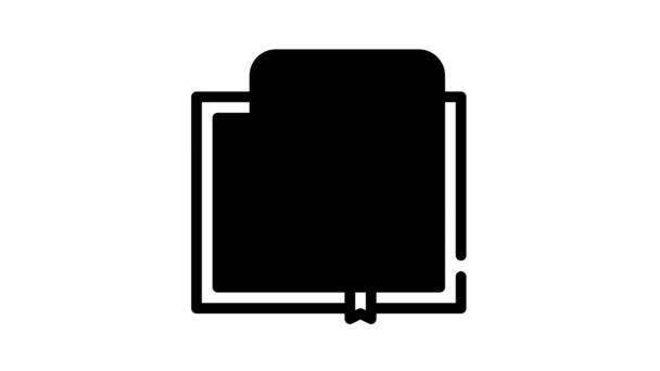 feedback review book black icon animation
