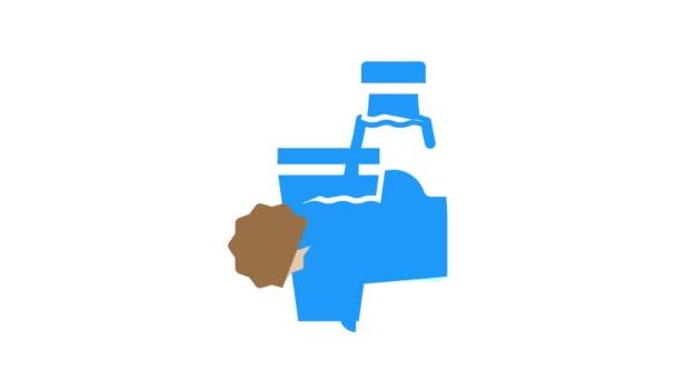 animace ikon alergie na mléko