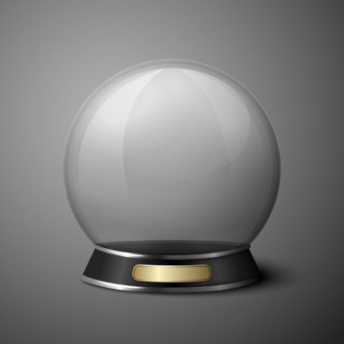 Vector crystal ball for fortune tellers.