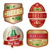 Fényképek Világos sör-címkekészlet