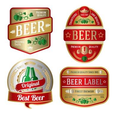 Set of bright beer labels