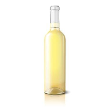 Blank realistic bottle for wine