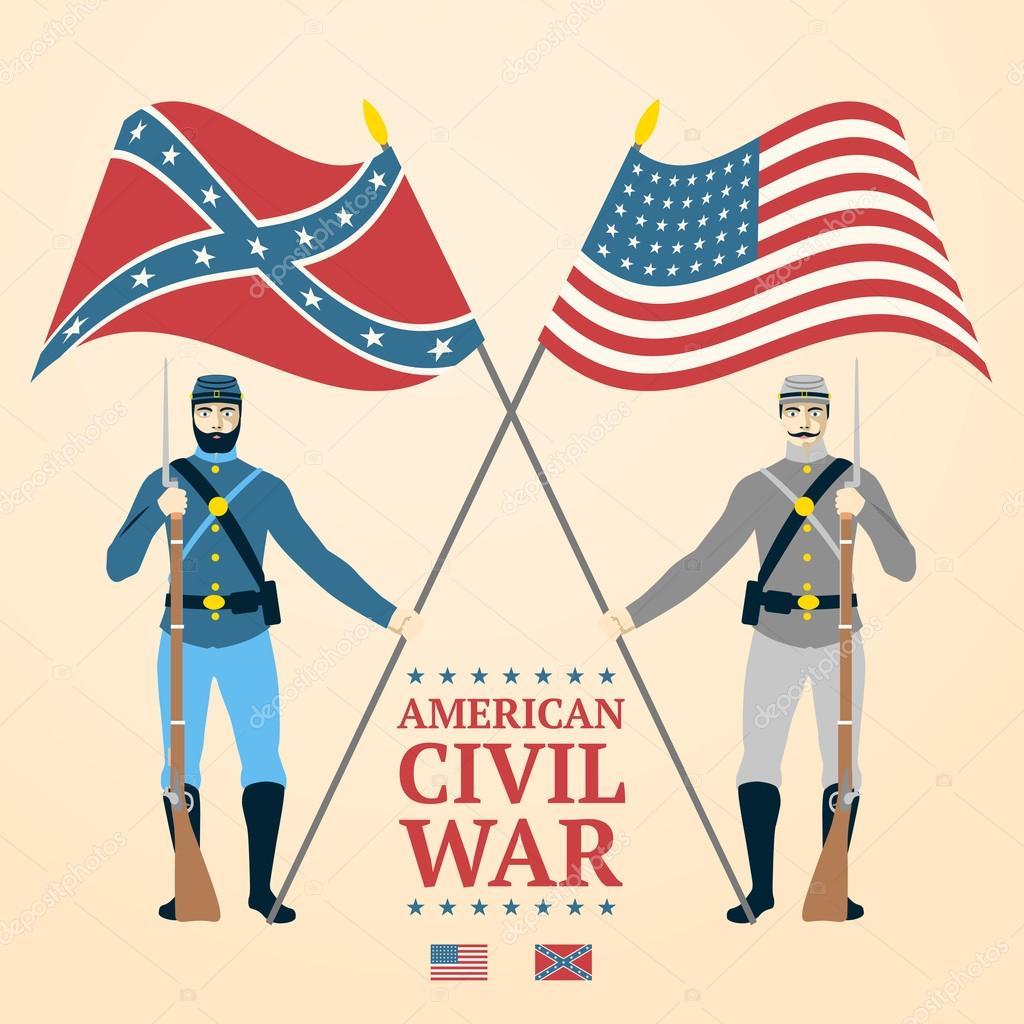 Ilustración de la Guerra Civil Americana — Archivo Imágenes ...