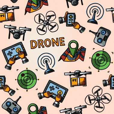 Freehand drone pattern