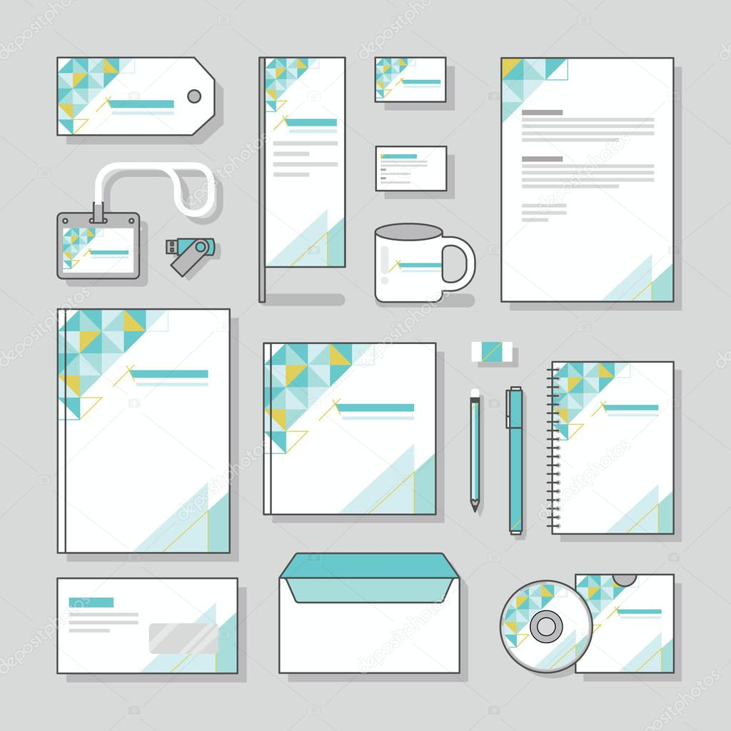 Triangle design identity template stationery design set and business triangle design identity template stationery design set and business stationery stock vector cheaphphosting Image collections