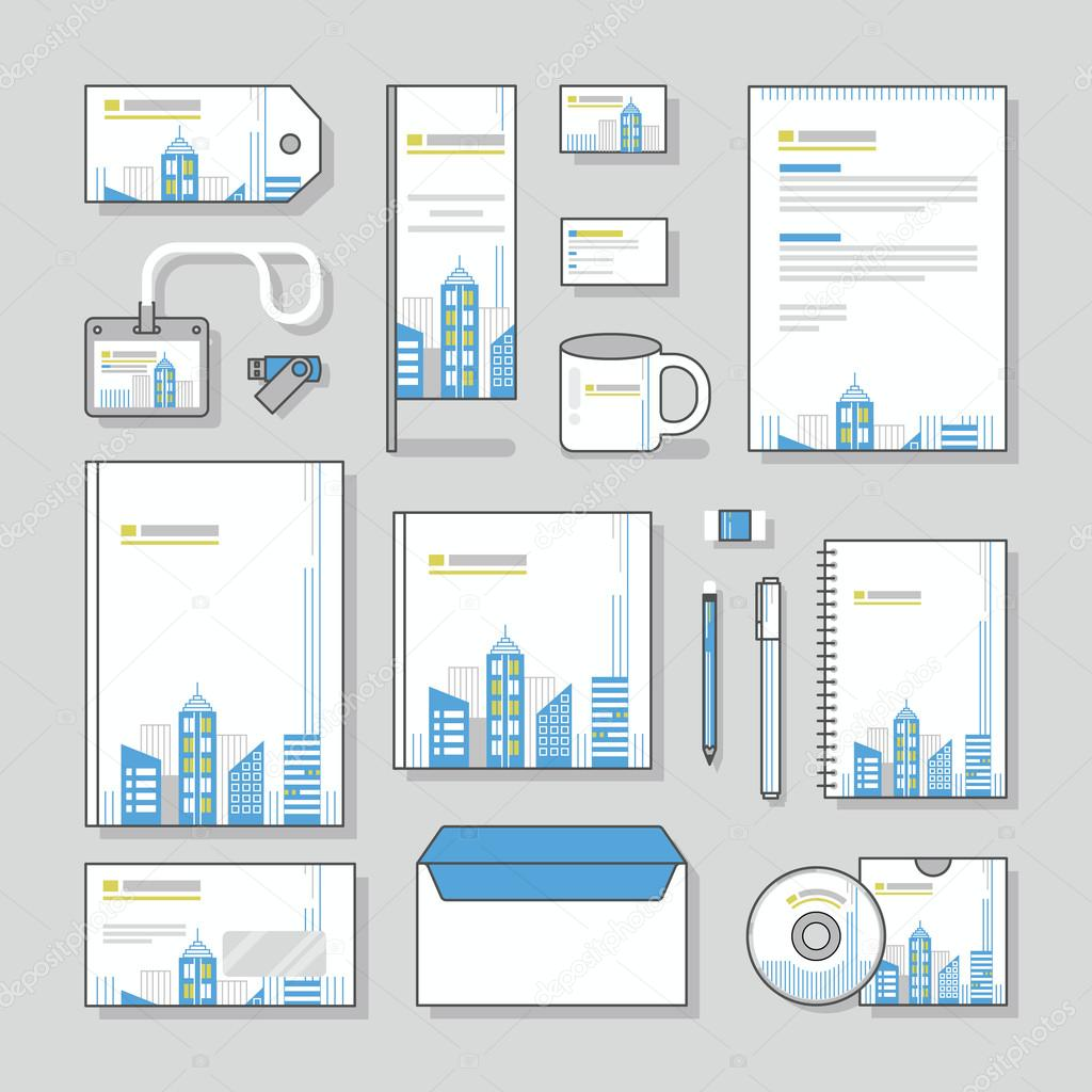 Building corporate identity template stationery design set and building corporate identity template stationery design set and business stationery stock vector accmission Images