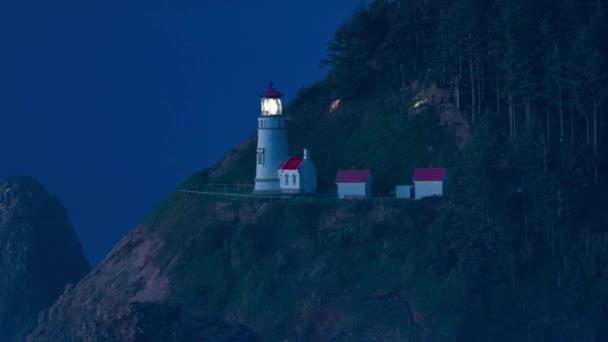 Heceta Head Lighthouse in der Abenddämmerung
