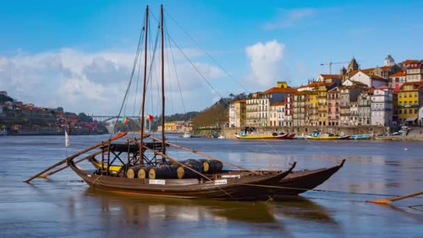 Traditional transport boats in Porto