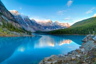 Moraine lake in Banff National Park, Alberta, Canada stock vector