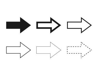 Airplane route icon illustration set icon