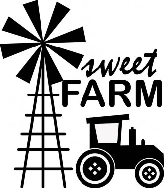 Sweet farm on white background. Farm Vector illustration. icon