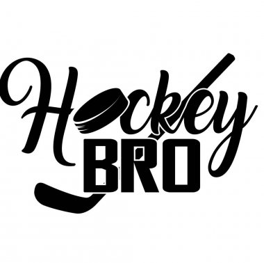 Hockey bro quote on white background. Vector illustration. icon