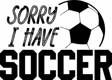 Sorry I have soccer on the white background. Vector illustration. icon