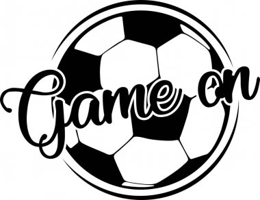 Game on on the white background. Vector illustration. icon