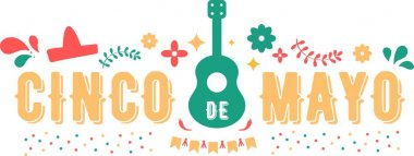 Cinco de mayo on the white background. Vector illustration. icon