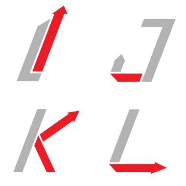 I J K L letters