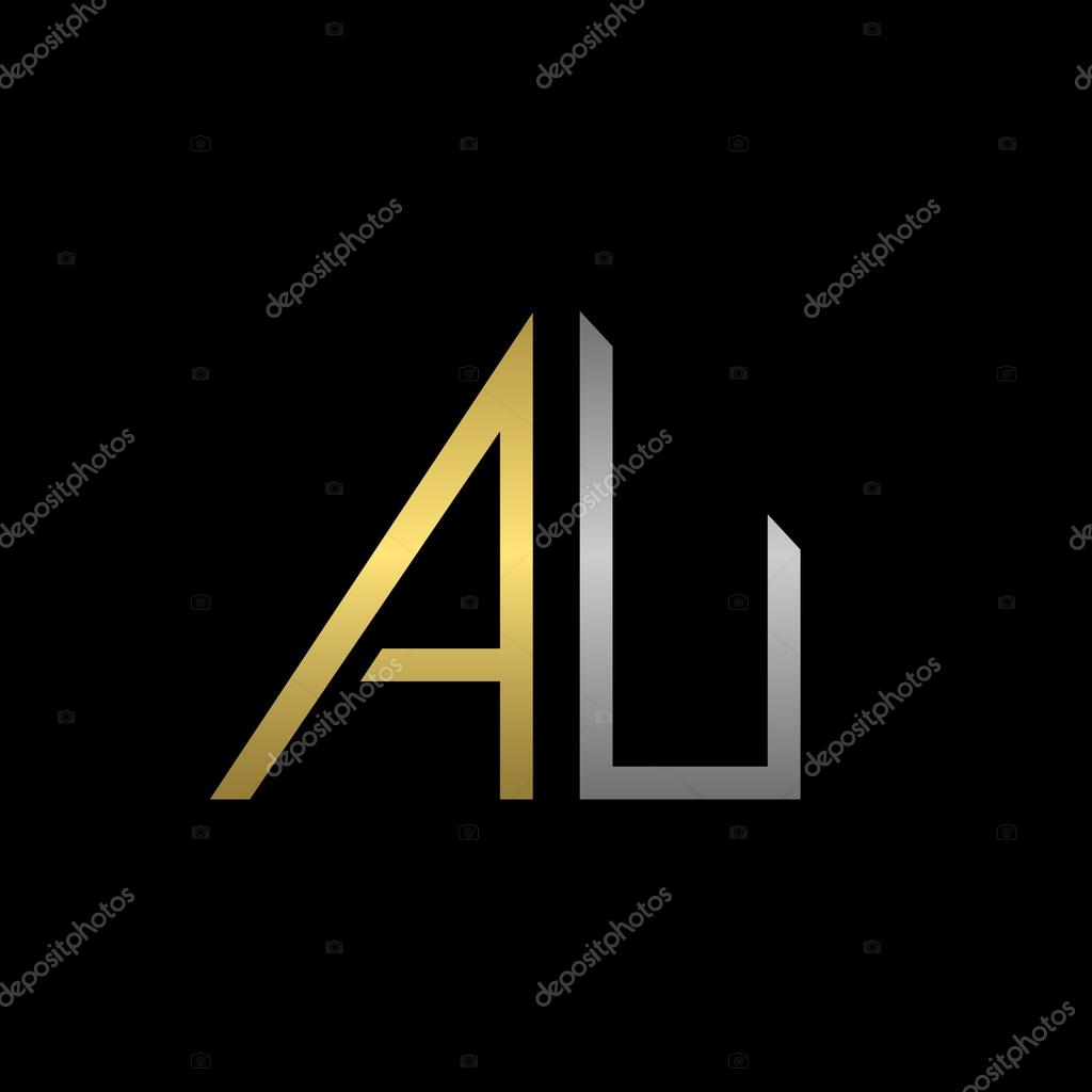 au letters logo stock vector mishabokovan 101899082