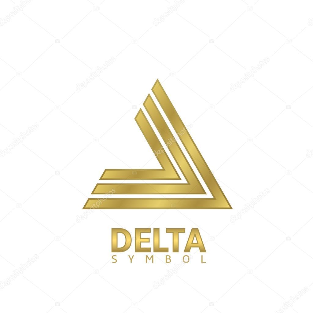 Golden delta sign stock vector mishabokovan 105593386 golden delta sign stock vector biocorpaavc Choice Image