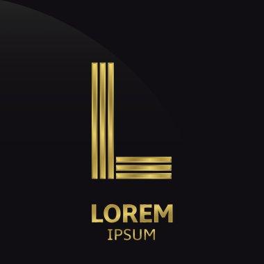 Golden letter symbol