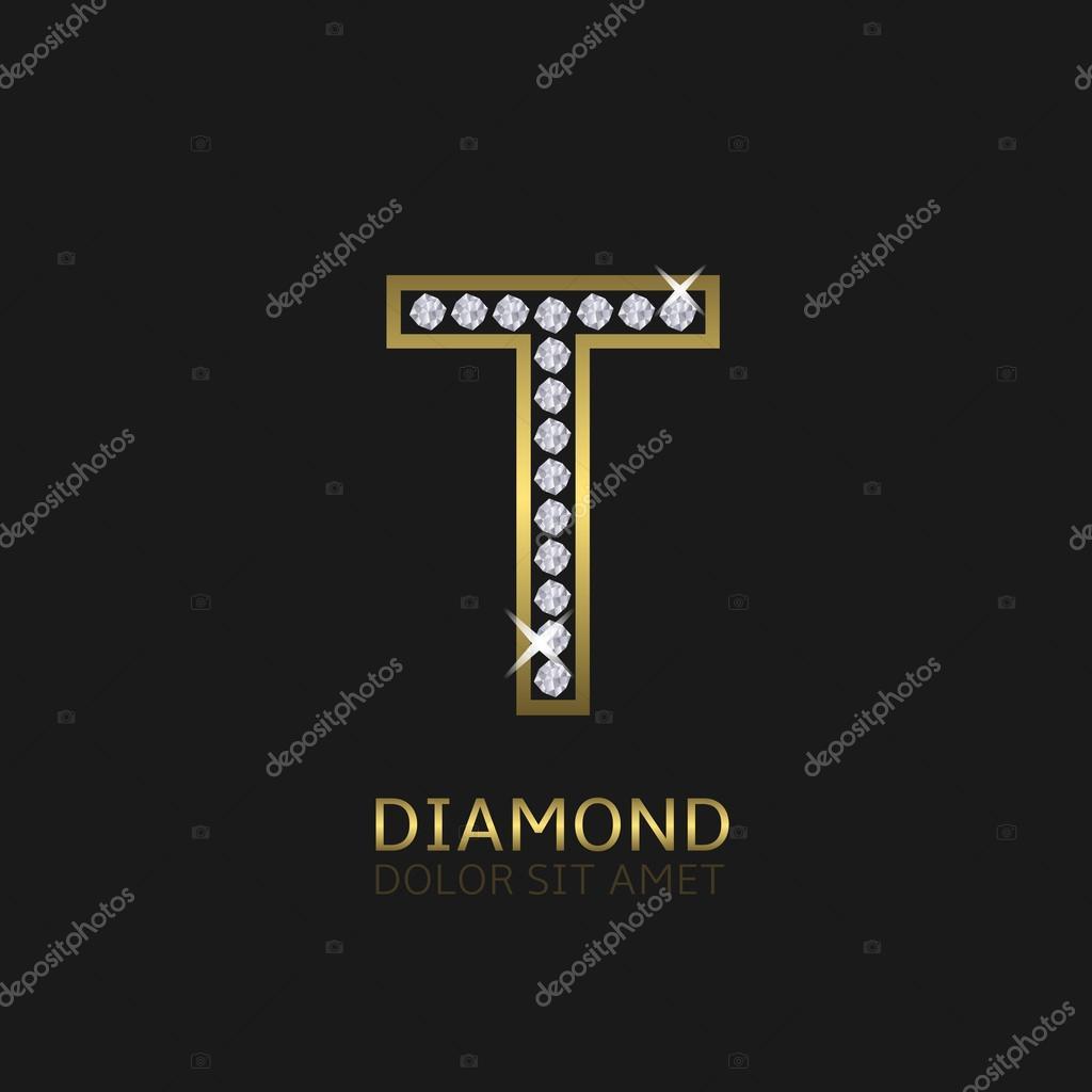 Golden Letter T Stock Vector Mishabokovan 93169844