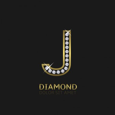 Golden Letter J