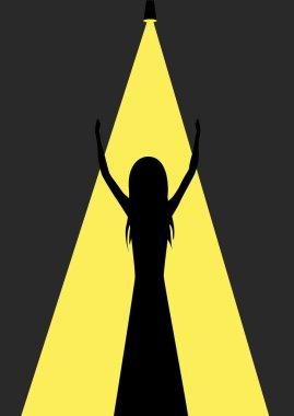 Woman silhouette illustration