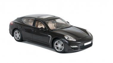 Black sport car Porsche Panamera Turbo