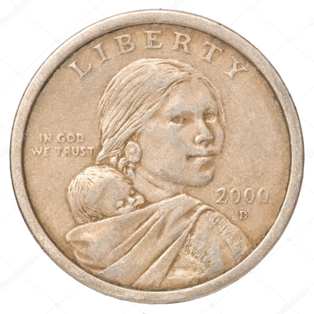 Ein Us Dollar Münze Stockfoto Andreylobachev 62612723