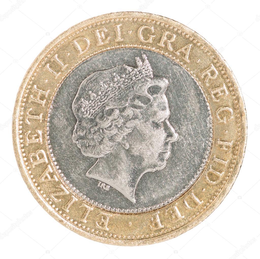 Zwei Pfund Münze Stockfoto 95521282