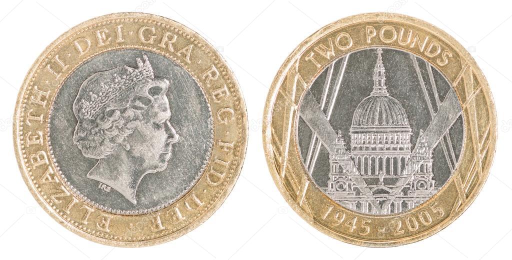 Zwei Pfund Münze Stockfoto Andreylobachev 95521520