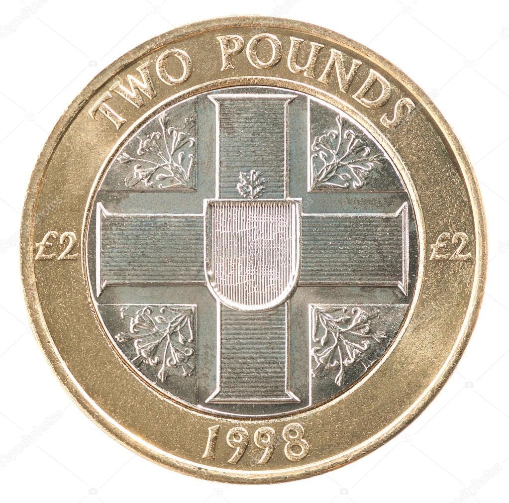 Zwei Pfund Münze Stockfoto Andreylobachev 97583884