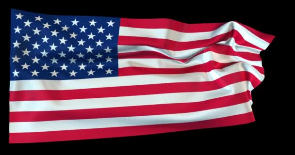 Evolving in the wind American flag with opacity map