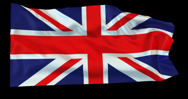 Evolving in the wind British flag with opacity map