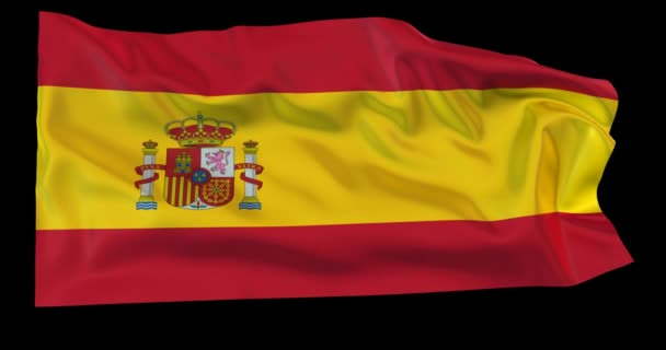 Evolving in the wind Spanish flag with opacity map