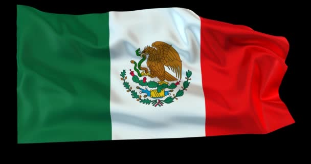 Evolving in the wind Mexican flag with opacity map