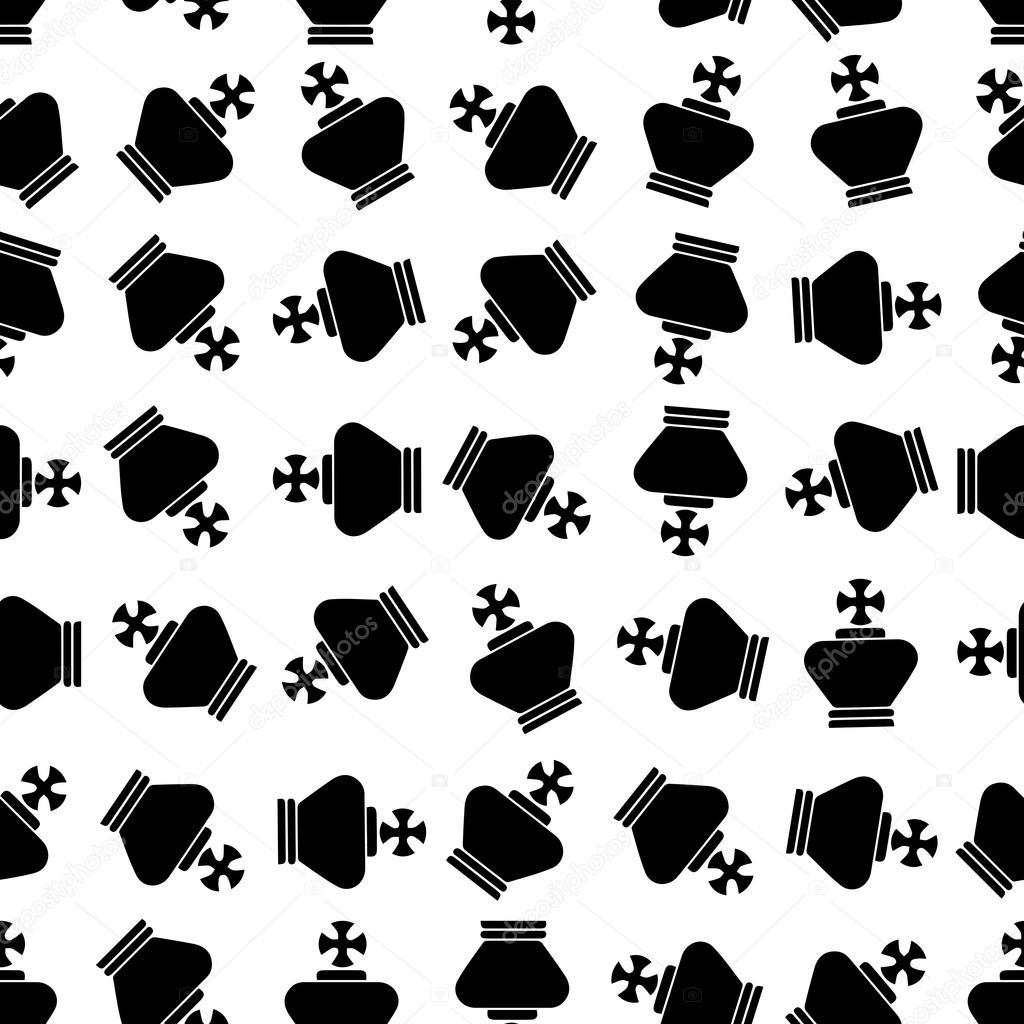 Seamless repeating pattern abstract royal crown.Vector