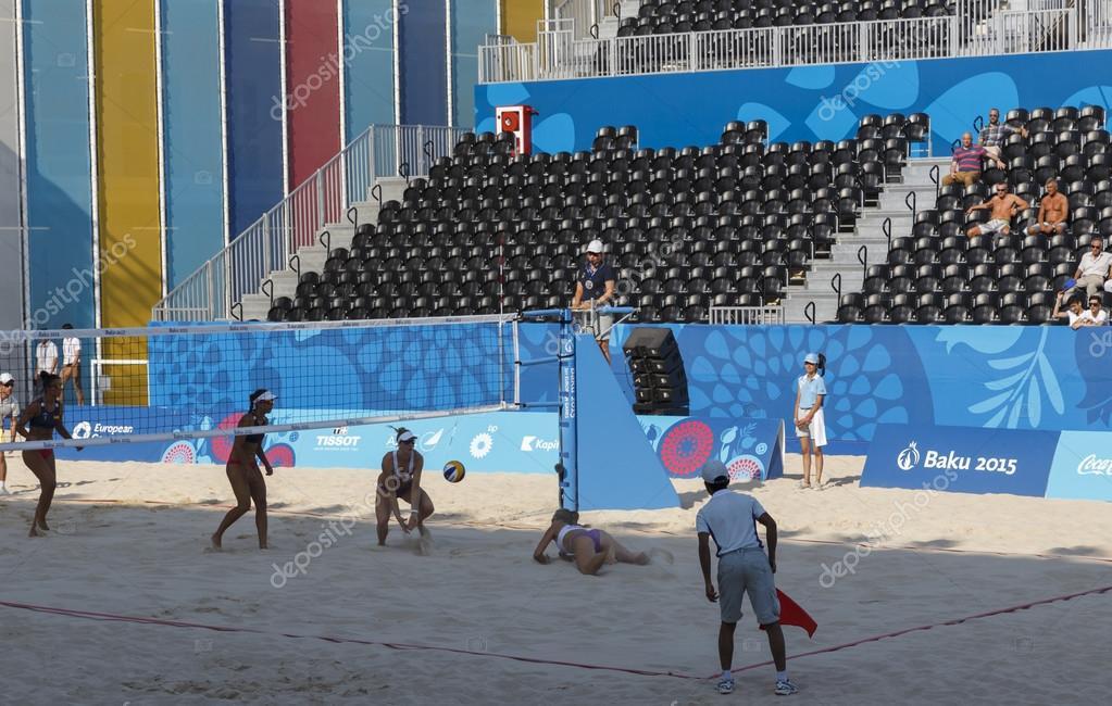BAKU,AZERBAIJAN-THE FIRST EUROPEAN GAMES-JUNE 20,2015-BEACH VOLL