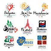 Fotografie Logos of European countries