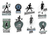 Fotografia Set athletics logotype labels