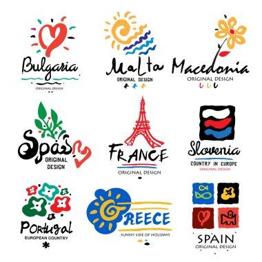Logos of European countries