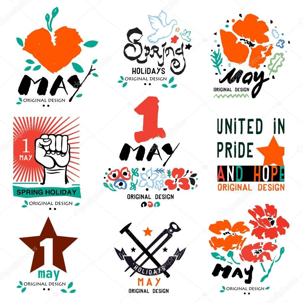 May 1 Labor Day Logo Symbol Stockvektor C Yanakalinina22 107770822