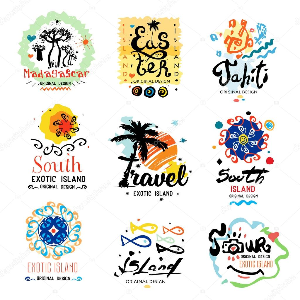 Logo for a travel Agency — Stock Vector © yanakalinina22 #107772770