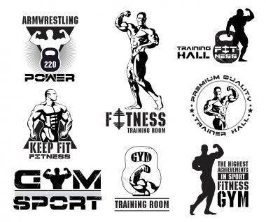 Set of vintage Bodybuilding