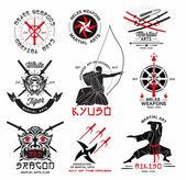 Fényképek Sor harcművészeti logók