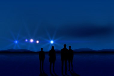 People and UFO