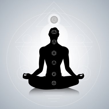 Man with chakras
