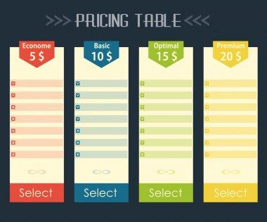 Flat pricing background